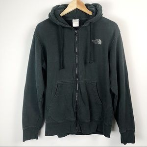 The Northface black zip up hoodie